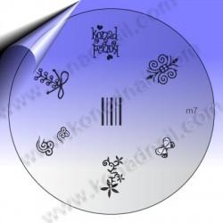 KONAD Nail Stamping Schablone m7