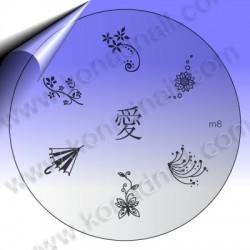 KONAD Nail Stamping Schablone m8