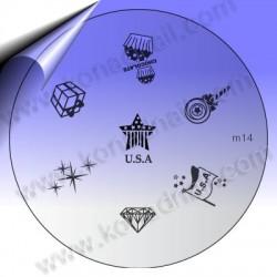 KONAD Nail Stamping Schablone m14