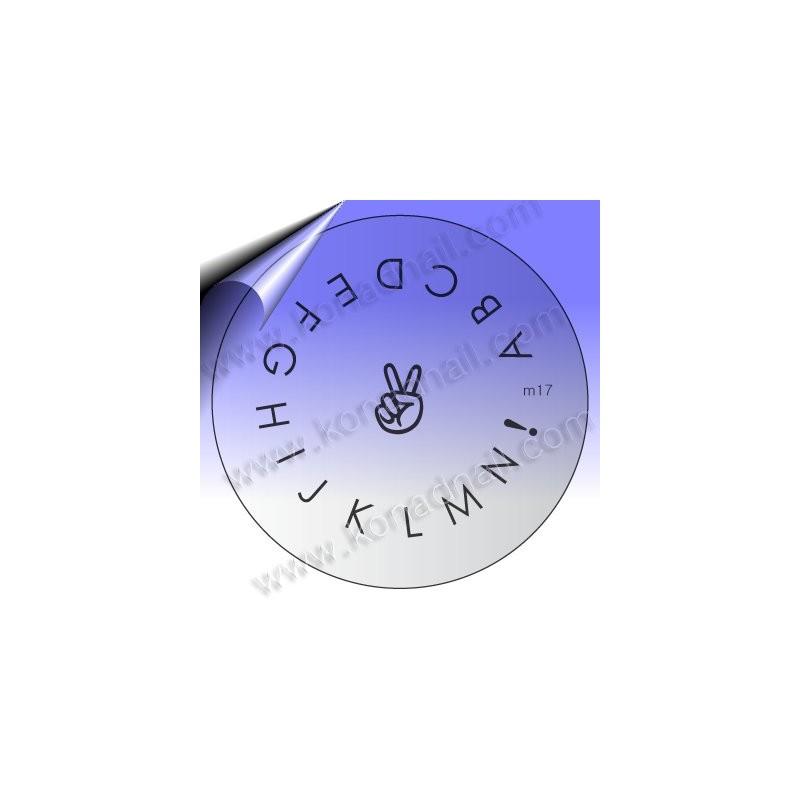KONAD Nail Stamping Schablone m17