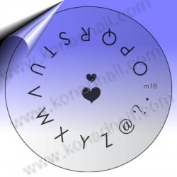 KONAD Nail Stamping Schablone m18