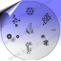 KONAD Nail Stamping Schablone m20