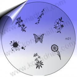 KONAD Nail Stamping Schablone m21