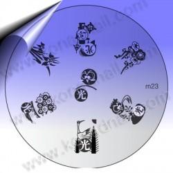 KONAD Nail Stamping Schablone m23