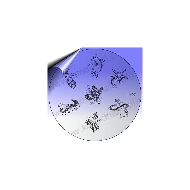KONAD Nail Stamping Schablone m27