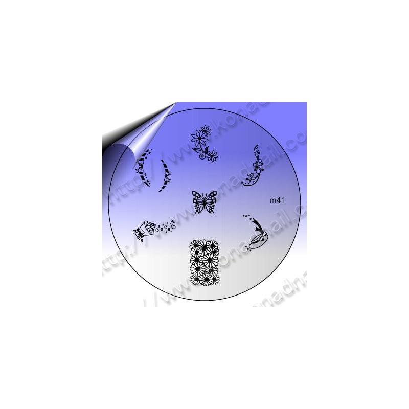 KONAD Nail Stamping Schablone m41