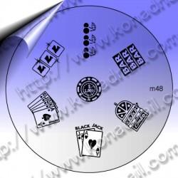 KONAD Nail Stamping Schablone m48