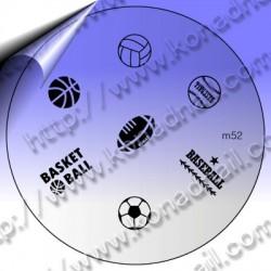 KONAD Nail Stamping Schablone m52
