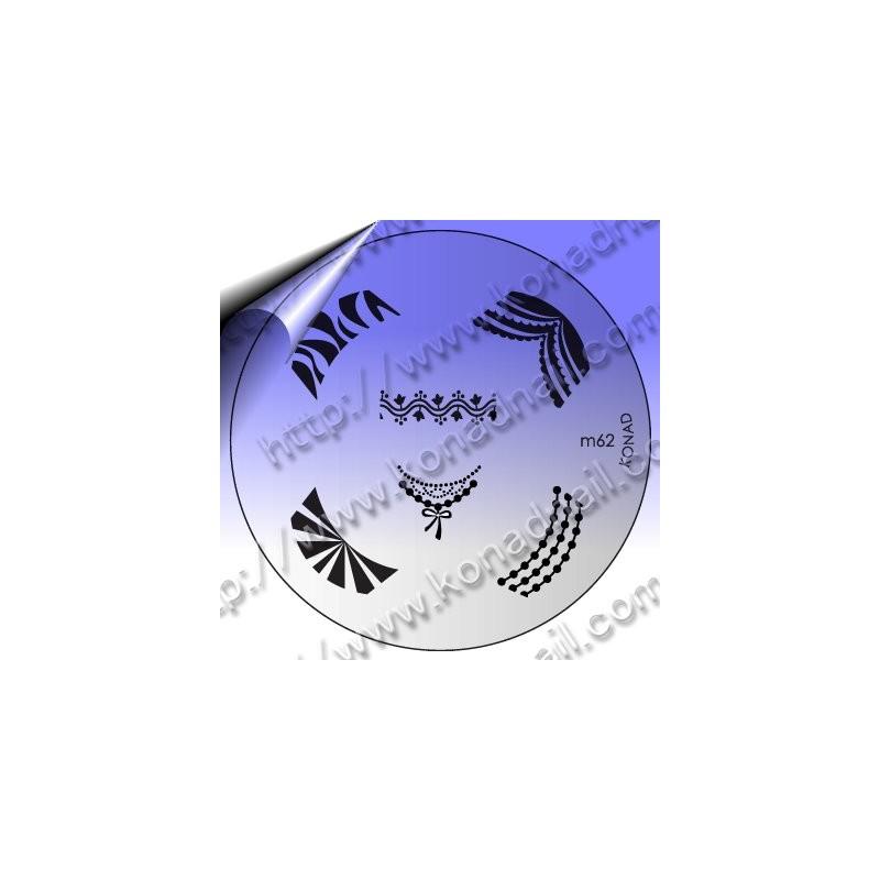 KONAD Nail Stamping Schablone m62