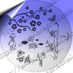 KONAD Nail Stamping Schablone m66