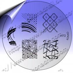 KONAD Nail Stamping Schablone m72
