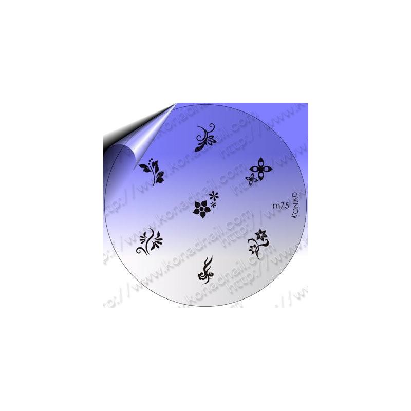KONAD Nail Stamping Schablone m75