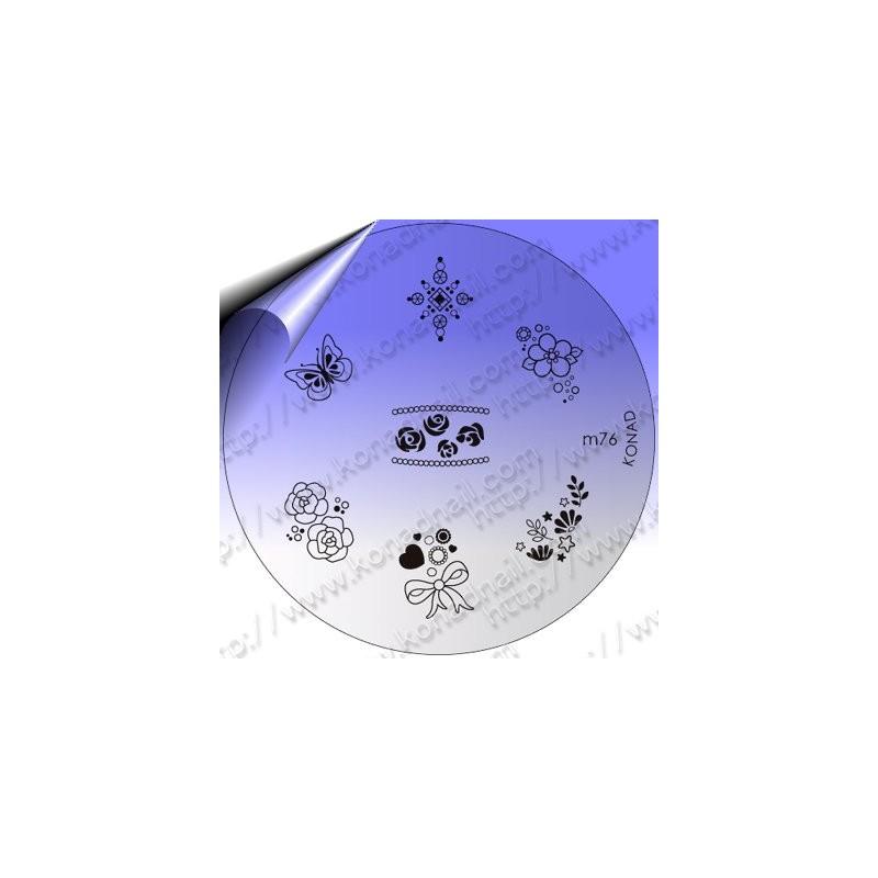 KONAD Nail Stamping Schablone m76