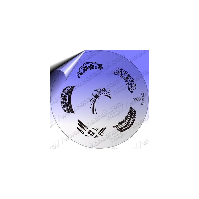 KONAD Nail Stamping Schablone m80