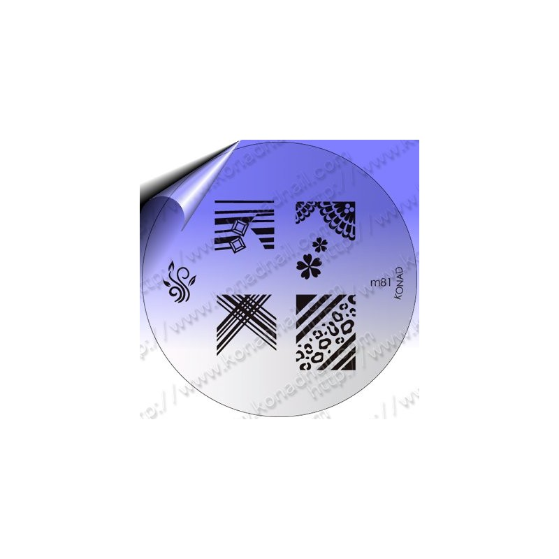 KONAD Nail Stamping Schablone m81
