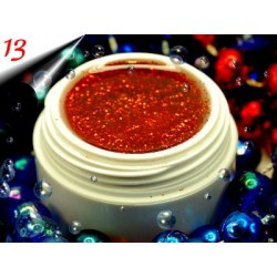 UV Diamond Glittergel Rot Nr.13