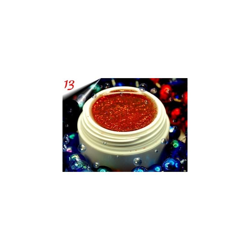 UV Diamond Glittergel Rot Nr.13