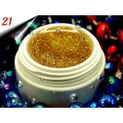 UV Diamond Glittergel Multi Gold Nr.21