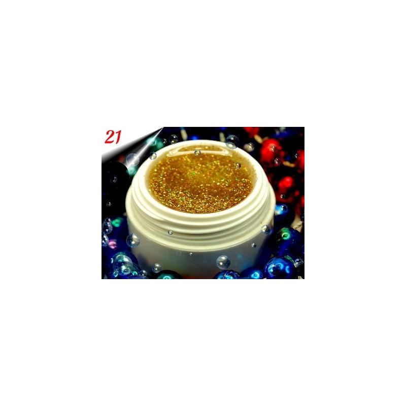UV Diamond Glittergel Multi Gold Nr.21