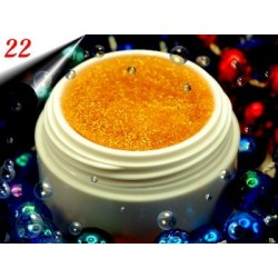 UV Diamond Glittergel Gold Orange Nr.22