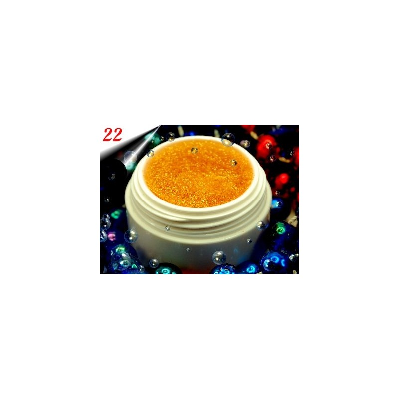 UV Diamond Glittergel Gold Orange Nr.22
