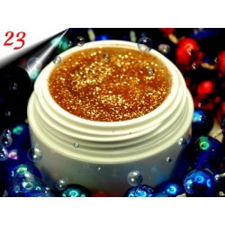 UV Diamond Glittergel Altgold Nr.23
