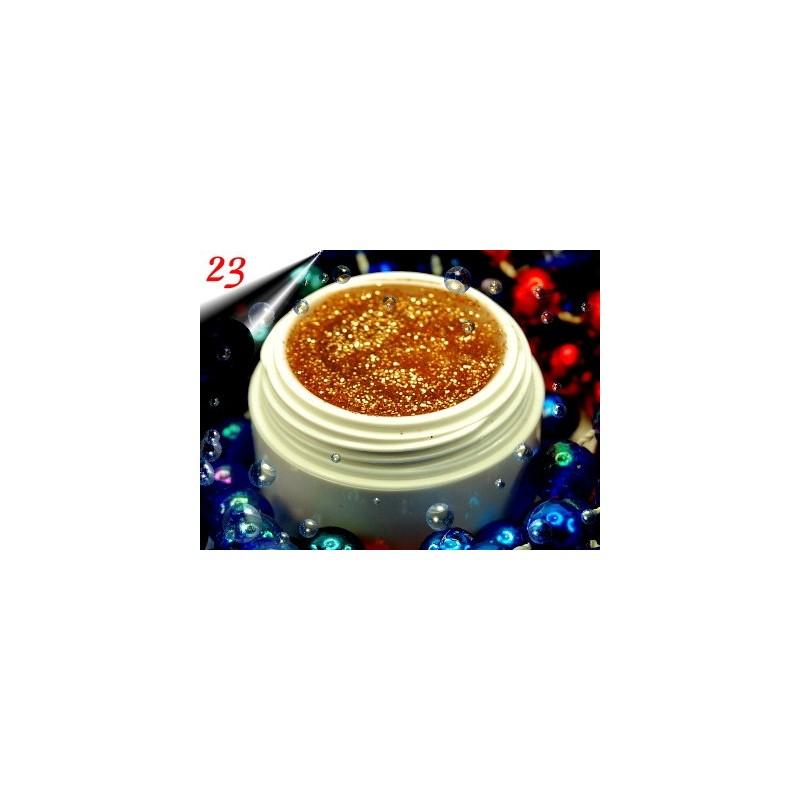 UV Diamond Glittergel Altgold Nr.23