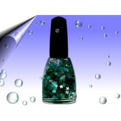 Neon Glitzer Nagellack 11ml ~ Partikeln Blau Grün Sterne Nr.3