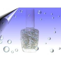 Glitter Nagellack 16ml ~ Partikeln Multi Silber Nr.6