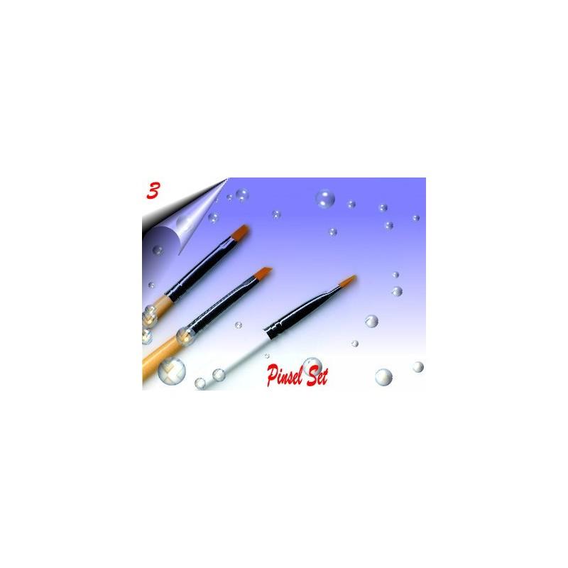 Nagelmodellage Gel Pinsel Set Nr.3