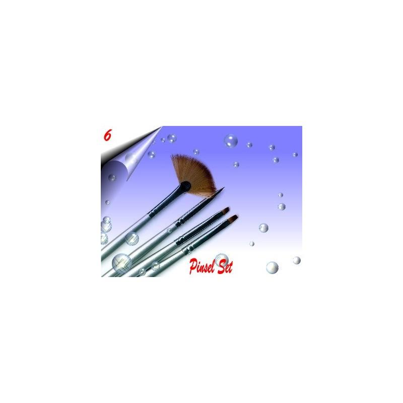 Gel Nagelmodellage ~ Nailart Pinsel Set Nr.6