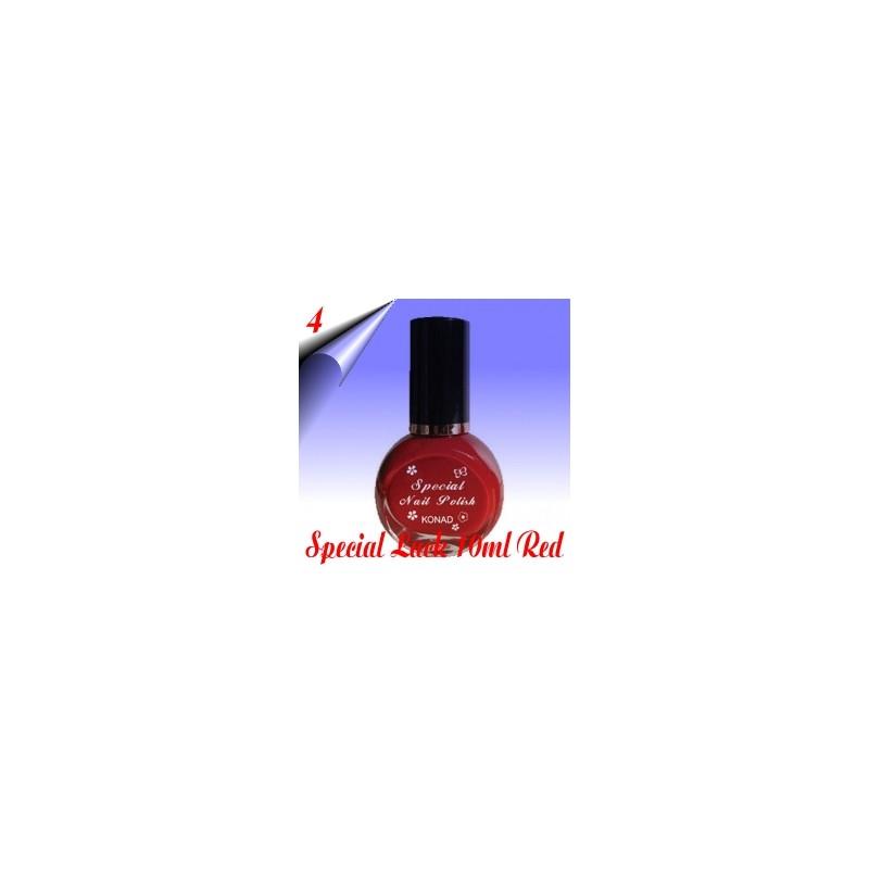 Original Konad Nail Stamping Nagellack Rot 10ml Nr.4