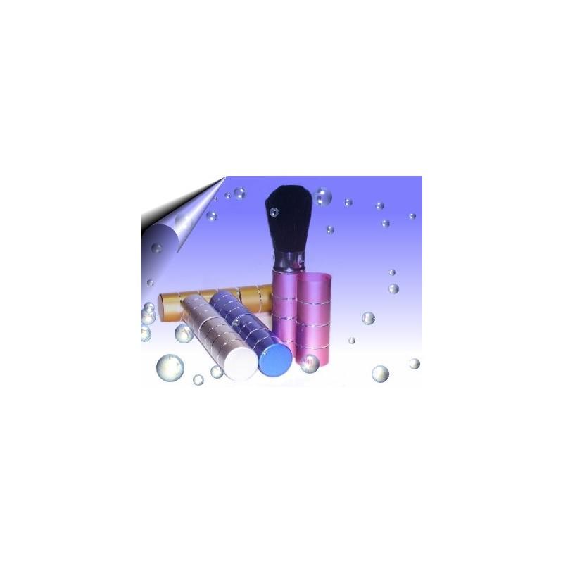 Nageldesign Staubpinsel mit Deckel Blau