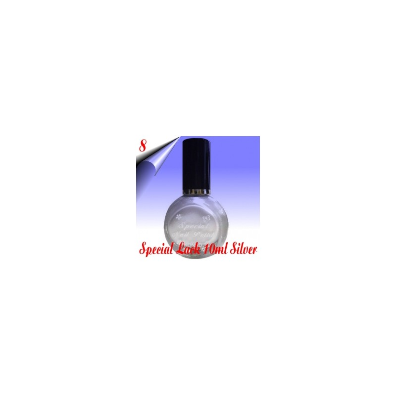 Original Konad Nail Stamping Nagellack Silber 10ml Nr.8