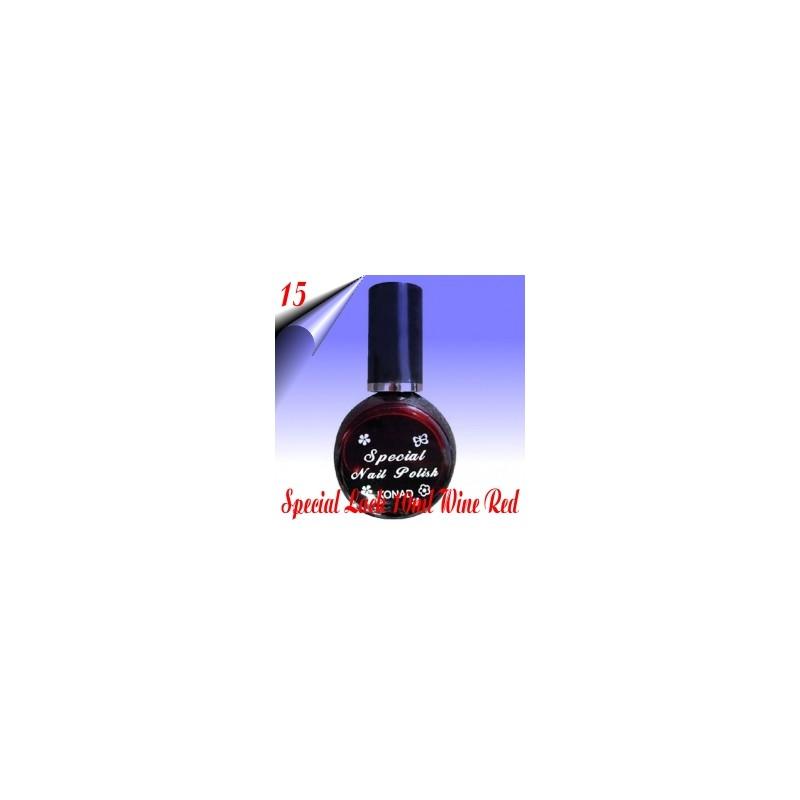 Original Konad Nail Stamping Nagellack Weinrot 10ml Nr.15