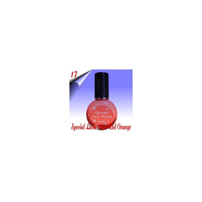 Original Konad Nail Stamping Nagellack Orange Rot 10ml Nr.17