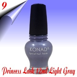 Original Konad Nail Stamping Princess Lack Light Gray Nr.9