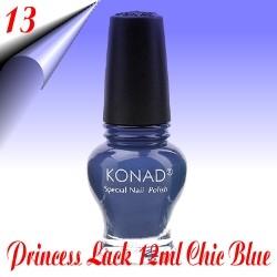Original Konad Nail Stamping Princess Lack Chic Blue Nr.13