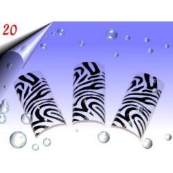Airbrush Designer Nagel Tips Nr.20 ~ 70 Stück inkl. Tipbox