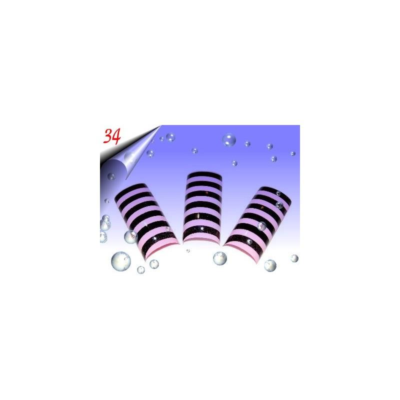 Airbrush Designer Nagel Tips Nr.34 ~ 70 Stück inkl. Tipbox