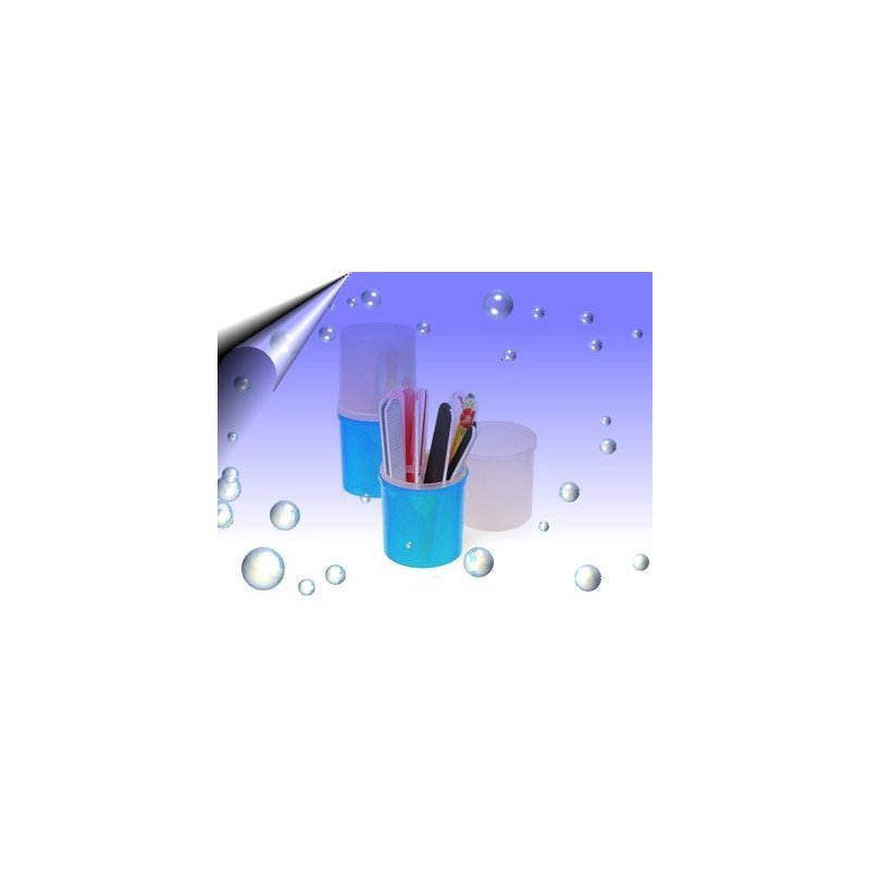 Aufbewahrungsbox Blau für Nagelfeile, Pinsel und Werkzeuge