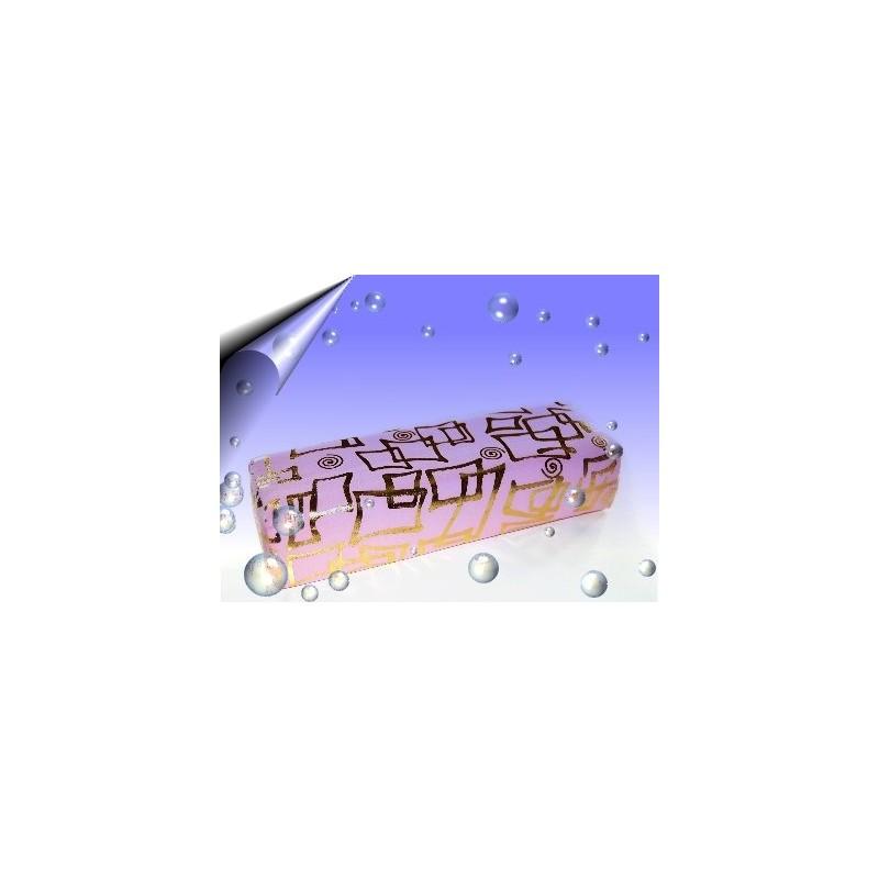 Nageldesign Microfaser Handauflage Rosa-Gold