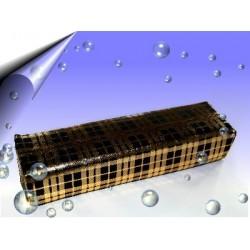 Nageldesign Microfaser Handauflage Schwarz-Gold