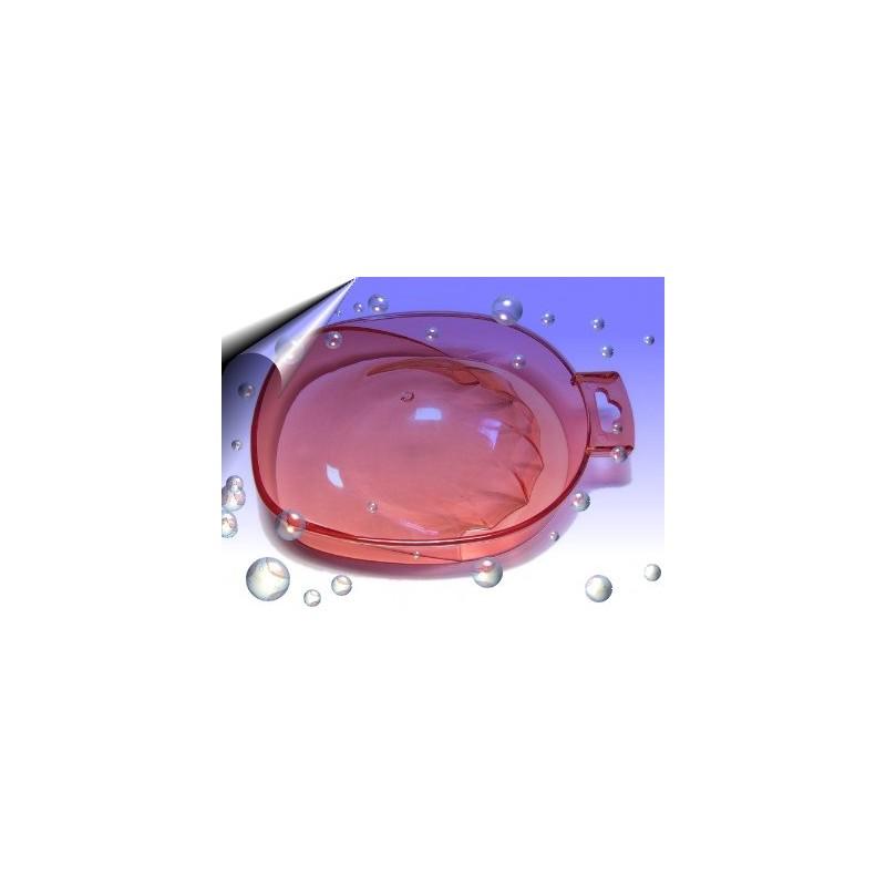 Manikürschale transparent Rot