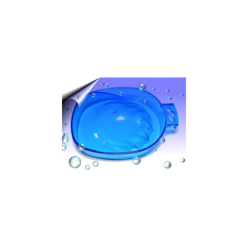Manikürschale transparent Blau