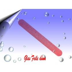 Glasfeile ~ Glasnagelfeile dünn Rot