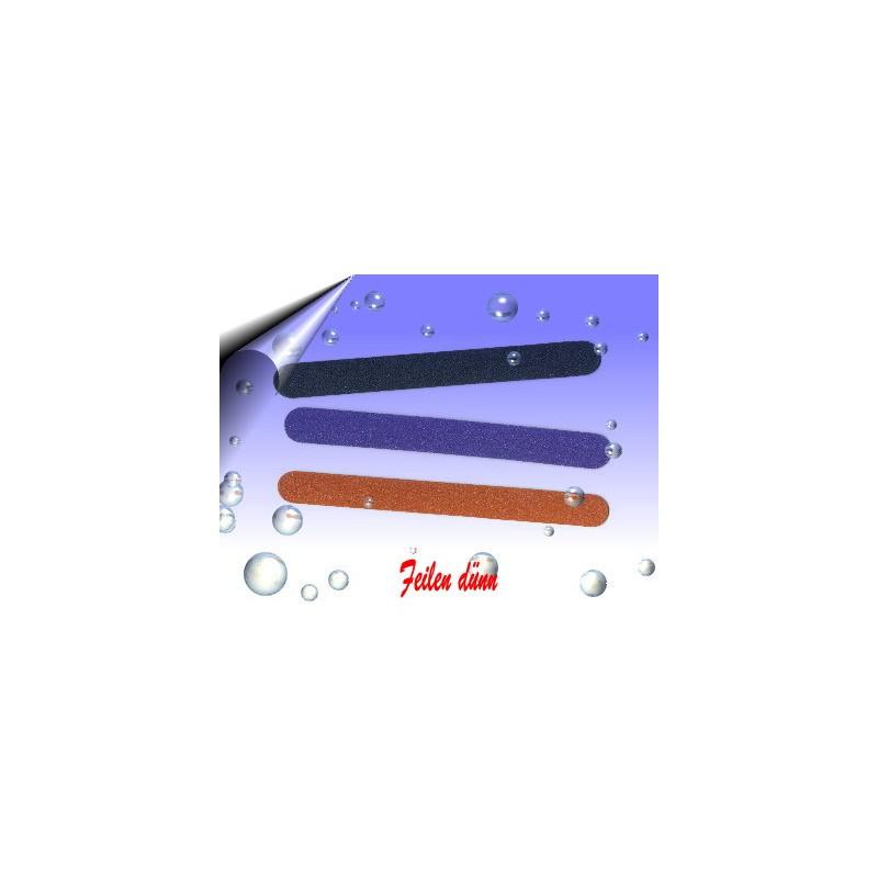 Nagelfeilen dünn ~ Sandblattfeilen Schwarz 50 Stück
