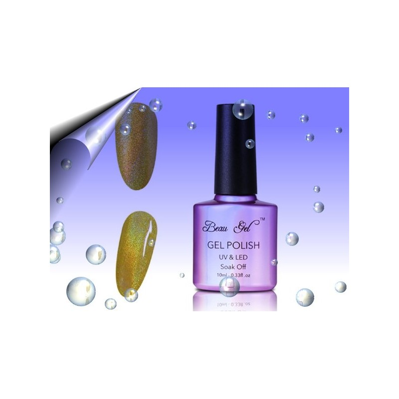 Soak Off Regenbogen UV Nagellack Gold ~ Nr.3