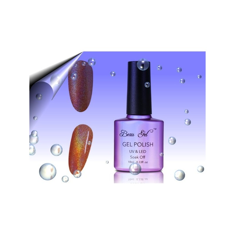 Soak Off Regenbogen UV Nagellack Braun ~ Nr.6