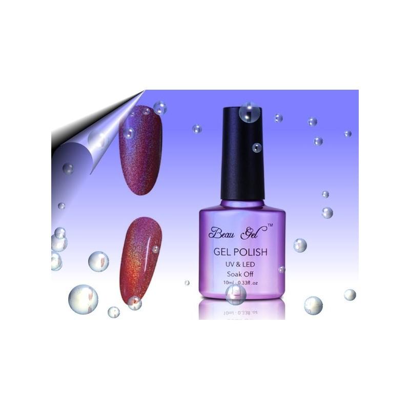 Soak Off Regenbogen UV Nagellack Rot ~ Nr.8